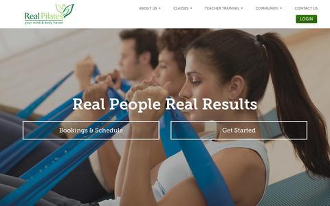 Screenshot of Home Page real-pilates.com - Real Pilates - Real Pilates Dubai - captured Feb. 26, 2016