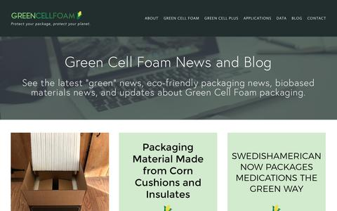 Screenshot of Blog greencellfoam.com - Sustainable Packaging News & Blog | Green Cell Foam - captured July 24, 2018