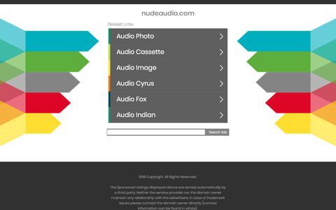 Screenshot of nudeaudio.com - nudeaudio.com - captured July 6, 2018