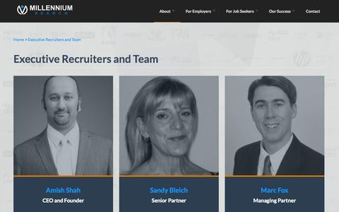 Screenshot of Team Page msearchllc.com - Executive Recruiters and Team | Millennium Search - captured Oct. 31, 2014