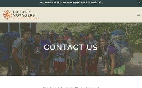 Screenshot of Contact Page chicagovoyagers.org - Contact — Chicago Voyagers - captured May 16, 2017