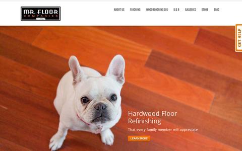 Screenshot of Home Page mrfloor.com - Hardwood Flooring Chicago, Installation & Refinishing - captured Oct. 8, 2014