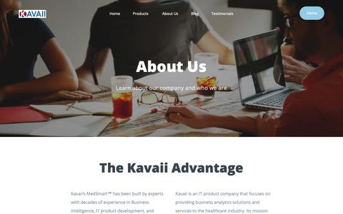 Screenshot of About Page kavaii.com - Kavaii - Analytics Shop - captured Oct. 15, 2018
