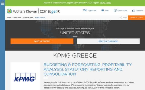 Screenshot of Case Studies Page tagetik.com - Case Study: KPMG Greece | CCH Tagetik - captured March 8, 2018