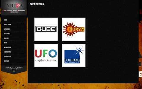 Screenshot of Support Page nripa.biz - Supporters - - captured Oct. 9, 2014