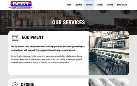 Screenshot of Services Page bestrestaurant.com - Services - Best Restaurant Equipment & Supply Co. - captured Oct. 10, 2017