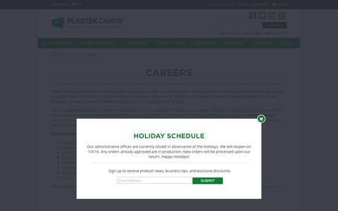 Printing Careers | Plastic Card Printing | Plastek Cards