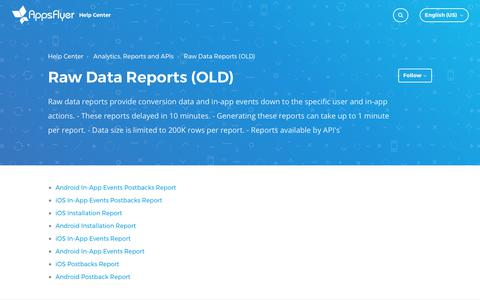 Raw Data Reports (OLD) – Help Center