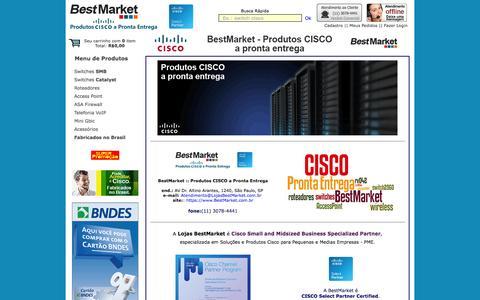 Screenshot of Home Page bestmarket.com.br - Produtos Cisco a Pronta Entrega :: BestMarket - captured Oct. 5, 2014