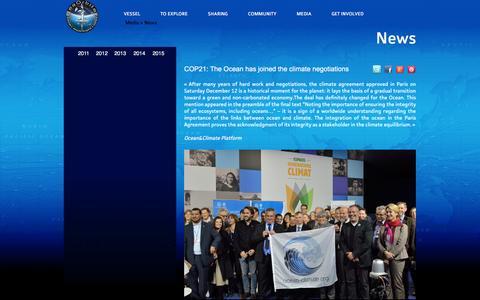 Screenshot of Press Page seaorbiter.com - News - captured Feb. 3, 2016