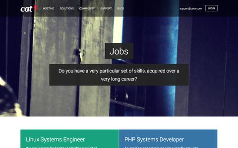 Screenshot of Jobs Page catn.com - Jobs | We're currently recruiting to join our awesome team - captured Oct. 28, 2014