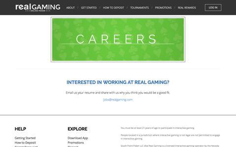 Screenshot of Jobs Page realgaming.com - Jobs | Real Gaming - captured Aug. 12, 2016