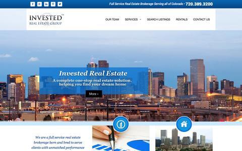 Screenshot of Home Page investedreg.com - Home | Invested Real Estate | Denver Colorado | Commercial Real Estate | Residential Real Estate - captured Oct. 6, 2014