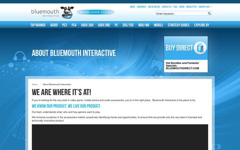 Screenshot of About Page bluemouth.com - About Bluemouth Interactive - captured Oct. 5, 2014