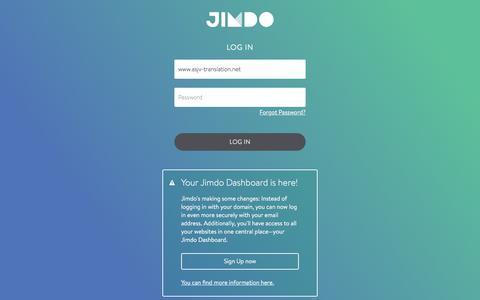 Screenshot of Login Page jimdo.com - Jimdo Login - captured Oct. 7, 2017