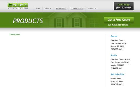 Screenshot of Products Page edgepestcontrol.com - Products | Edge Pest Control - captured Sept. 29, 2014