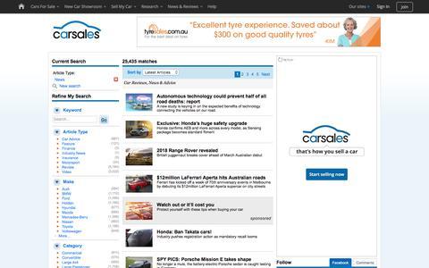Screenshot of Press Page carsales.com.au - Car - Reviews, News & Advice - captured Oct. 12, 2017