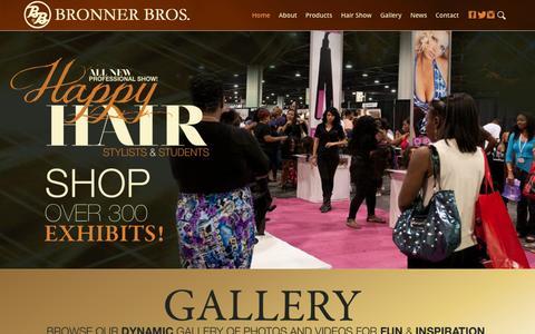 Screenshot of Home Page bronnerbros.com - Bronner Bros - captured Oct. 5, 2014