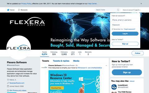 Flexera Software (@flexerasoftware) | Twitter