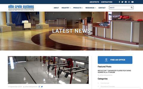 Screenshot of Blog elitecrete.com - Elite Crete's Latest News - Elite Crete - captured Sept. 23, 2018