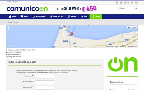 Screenshot of Support Page comunicoon.it - Contatti - Comunicoon - captured Sept. 30, 2014