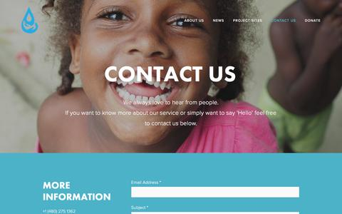 Screenshot of Contact Page 33buckets.org - Contact Us — 33 Buckets - captured Dec. 21, 2016