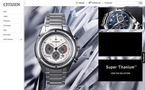 Screenshot of Home Page citizenwatches.com.au - Home | Citizen Watches Australia - captured Sept. 20, 2015