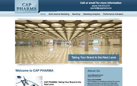 Screenshot of Home Page cappharma.biz - CAP PHARMA - captured Sept. 26, 2014