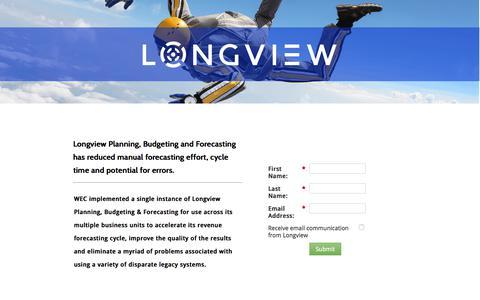 Screenshot of Landing Page longview.com captured Sept. 13, 2017