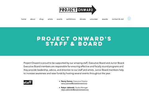 Screenshot of Team Page projectonward.org - Staff and Board | Project Onward - captured Nov. 4, 2018