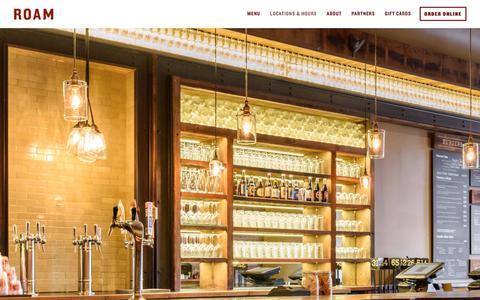 Screenshot of Locations Page roamburgers.com - Locations & Hours | Roam Burgers - captured Oct. 22, 2017