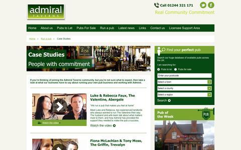 Screenshot of Case Studies Page admiraltaverns.co.uk - Pub Landlord Case Studies | Admiral Taverns - captured Dec. 23, 2015