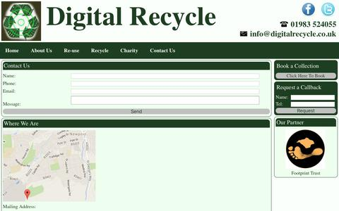 Screenshot of Contact Page digitalrecycle.co.uk - Contact Us - Digital Recycle - captured Nov. 6, 2018