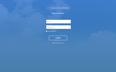 Screenshot of Login Page vistacaballo.com - THE STILLPOINT EXPERIENCE - captured Nov. 7, 2018