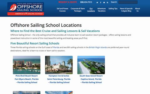 Screenshot of Locations Page offshoresailing.com - Learn to Sail Vacation | Sail Vacations with Offshore Sailing - captured June 12, 2017