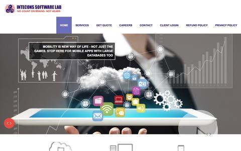 Screenshot of Home Page intecons.com - Intecons Software Lab-AWS - captured Nov. 26, 2016