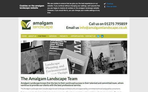 Screenshot of Team Page amalgamlandscape.co.uk - CMLI landscape architect, Landscape Institute registered   Amalgam Landscape - captured July 29, 2018
