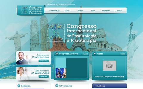 Screenshot of Home Page congressodepostura.com.br - Congresso Internacional de Posturologia - captured May 24, 2016