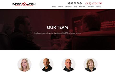 Screenshot of Team Page itgct.com - Our Team | Information Technology Group - captured Oct. 6, 2014