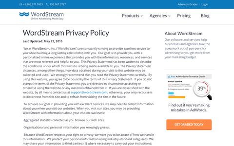 WordStream Privacy Policy