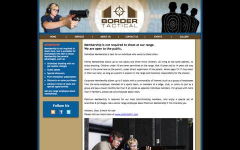 Screenshot of Services Page bordertactical.com - Border Tactical Website - captured Oct. 5, 2014
