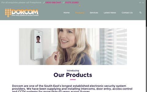 Screenshot of Products Page dorcom.co.uk - Dorcom | Door Entry System and Access Control Products - captured Nov. 24, 2016