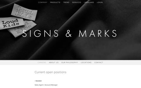 Screenshot of Jobs Page signs-marks.com - Careers — Signs & Marks - captured Dec. 8, 2018