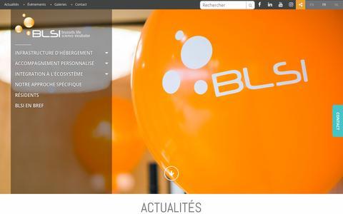 Screenshot of Press Page blsincubator.com - Actualités | BLSI - captured Oct. 4, 2018