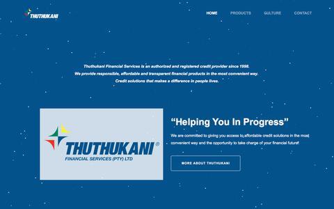 Screenshot of Home Page thuthukani.co.za - Thuthukani - captured Oct. 25, 2017