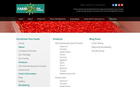 Screenshot of Site Map Page farmfreshfinefoods.com - Farmfresh Fine Foods | Processed Vegetables | Individually Quick Frozen (IQF) and Pasteurised Product Range  > Farmfresh Fine Foods Sitemap - captured Nov. 3, 2014