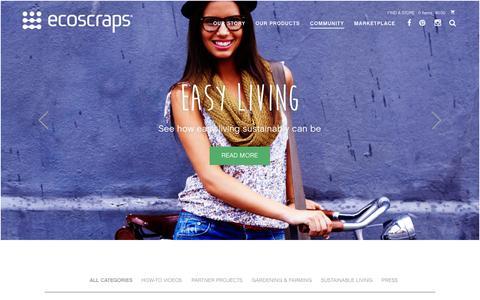 Screenshot of Blog ecoscraps.com - EcoScraps - Blog - captured Dec. 2, 2015