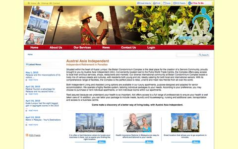 Screenshot of Home Page Privacy Page aai.my - Welcome to Austral Asia Independent - captured Oct. 4, 2014