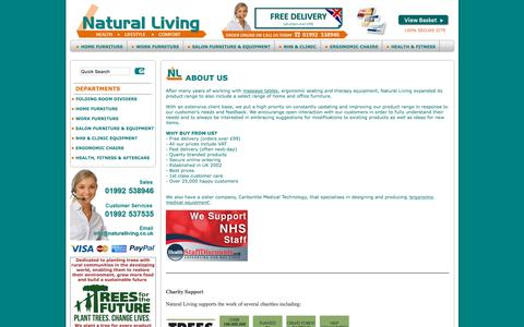 Screenshot of About Page naturalliving.co.uk - Natural Living - About Us - captured Oct. 4, 2015