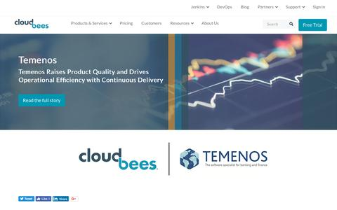 Screenshot of Case Studies Page cloudbees.com - Temenos Raises Product Quality and Drives Operational Efficiency with Continuous Delivery | CloudBees - captured Aug. 8, 2018